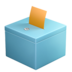 ballot box with ballot 1f5f3
